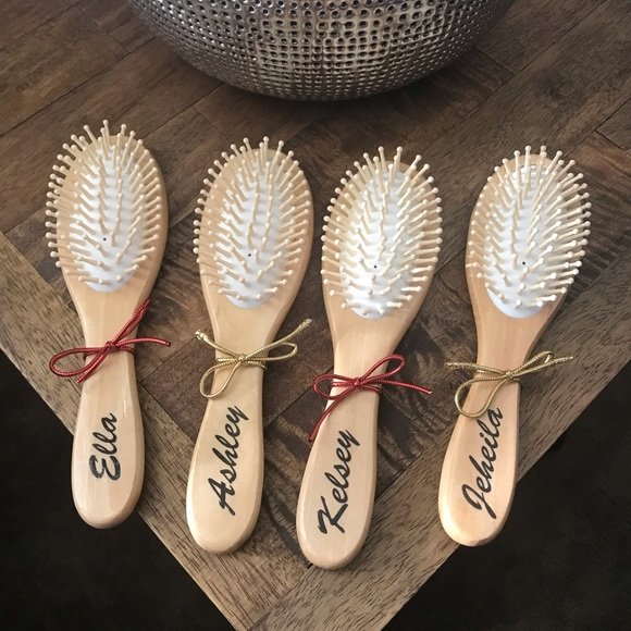 Personalized Wooden Hairbrush For Women Kids 1pc Boutique